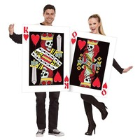 King & Queen of Hearts Costume Set - Adult (Black/Red)