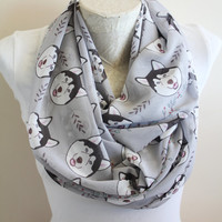 Dog Scarf Siberian Husky Scarf Animal Scarf from Daughter Son Christmas Gift For Her Dog Lover Gift for Mom Pet Mom