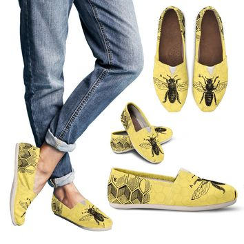 Vintage Bee Diagram Casual Shoes