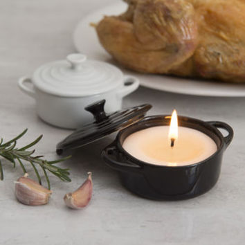 roast dinner scented candle in a casserole dish by marvling bros ltd. | notonthehighstreet.com