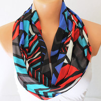 Infinity Scarf Loop Scarf Circle Scarf Cowl Scarf Multicolor Striped