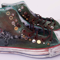 Military Customized Converse All Star Hi Tops