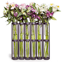 Tall Six Tube Hinged vase by Danya B