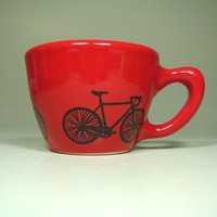 12oz cup road bike (berry red) - Made to Order / Pick Your Colour