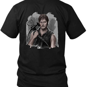 The Walking Dead Daryl Dixon Sorry 2 Sided Black Mens T Shirt