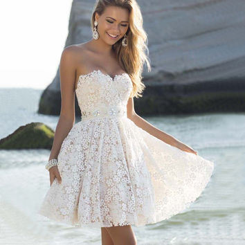 Winter Sexy Sleeveless Customized Prom Dress Skirt One Piece Dress [10972827343]