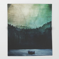 Great mystical wilderness Throw Blanket by HappyMelvin