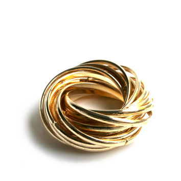 """""""Interconnected"""" Gold Ring"""