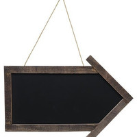 Framed Arrow Blackboard - Primitive Country Rustic Chalkboard Message Board Wall Decor