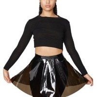 American Apparel Clear PVC Circle Skirt - Clear / XS
