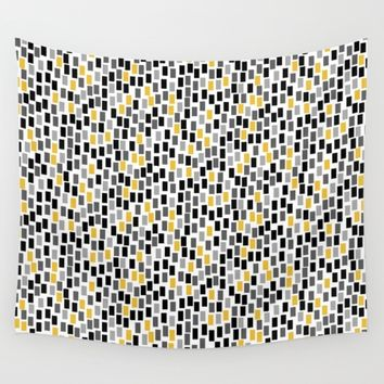 MOSAICS: YELLOW ACENT Wall Tapestry by Eileen Paulino