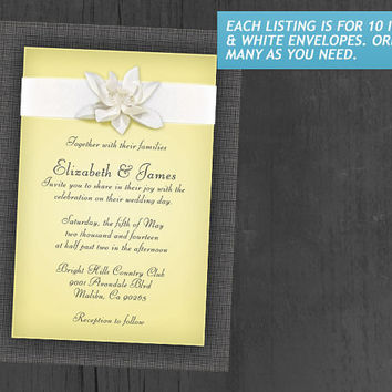 Yellow Wedding Invitations | Invites | Invitation Cards