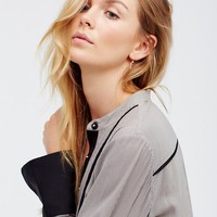 Free People Free Bird Striped Pullover