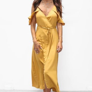 Let's Celebrate Marigold Maxi Dress