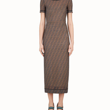 Multicolor technical mesh dress - DRESS | Fendi | Fendi Online Store