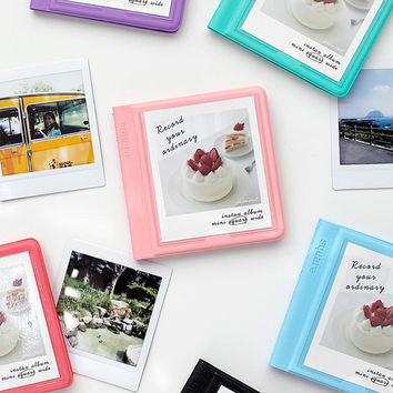 Colorful Instax square slip in pocket photo album