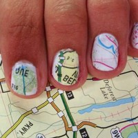 DIY Map Nails