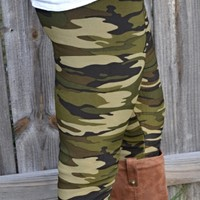 Camo Fur Leggings