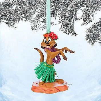 Licensed cool NEW TIMON HULA SKIRT LION KING DISNEY STORE 2014 SKETCHBOOK CHRISTMAS ORNAMENT