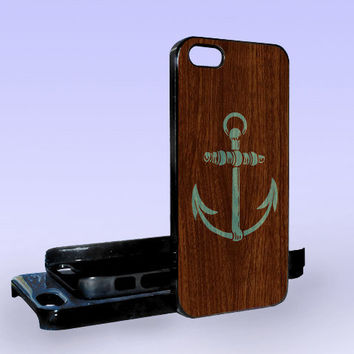 Anchor Wood Logo - Print on Hard Cover - iPhone 5 Case - iPhone 4/4s Case - Samsung Galaxy S3 case - Samsung Galaxy S4 case