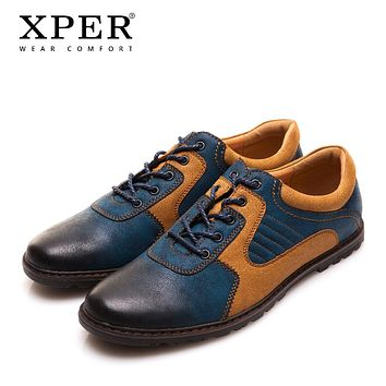 Men Casual Shoes PU Breathable Men Flats Shoes Mixed Colors Dress Sporty Shoes For Men