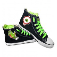 MOOMOONZ ZOMBIE CANVAS LACED BOOTS