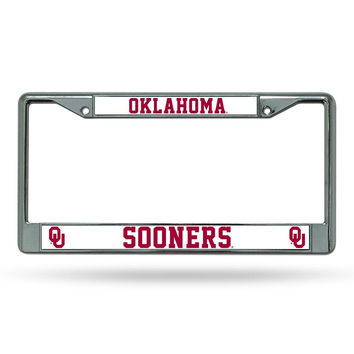 Oklahoma Sooners NCAA Chrome License Plate Frame