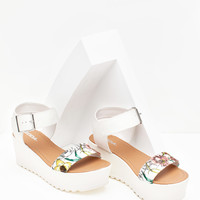 Magali A Little Floral Flatform Wedge