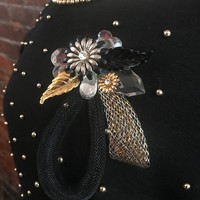AB FAB Stellar BiG Bold Corsage Style Runway Statement Bling Brooch Cocktail Holiday Party Pin