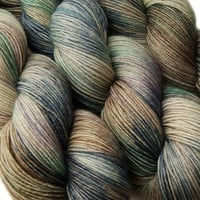 sw wool nylon sock yarn EURYDICE hand dyed fingering weight 3.5oz 460 yards