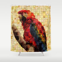 Parrot Mosaic Shower Curtain by Aloke Design