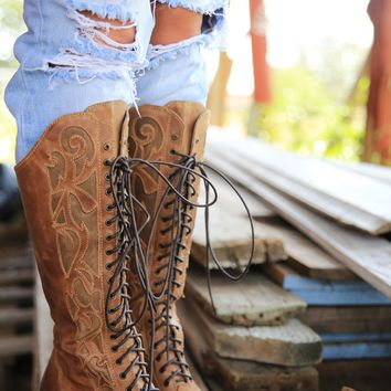 PRAIRIE LACE UP BOOT - Junk GYpSy co.