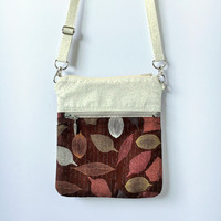 Small Crossbody Bag in Leafs Brown
