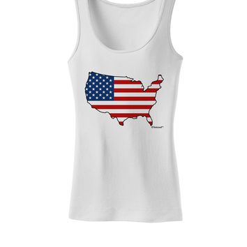 United States Cutout - American Flag Design Womens Tank Top by TooLoud