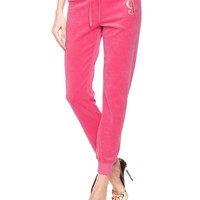 Logo Velour Juicy Frame Slim Pant by Juicy Couture