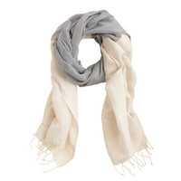 CHAMBRAY LINEN BLEND SCARF