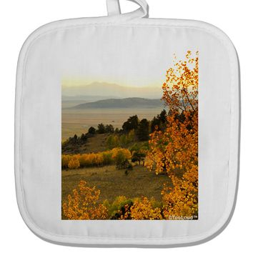 Nature Photography - Gentle Sunrise White Fabric Pot Holder Hot Pad by TooLoud