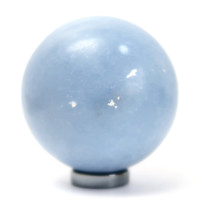 Angelite Ball 03 Blue Sphere Orb Crystal (2.4 Inches)