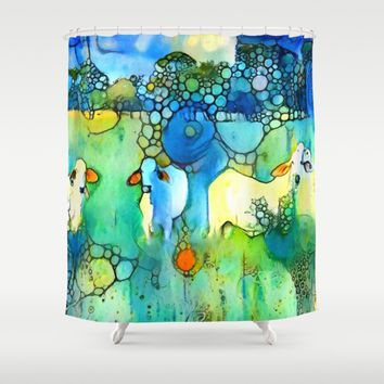 Holy Cow Shower Curtain by Bunny Clarke