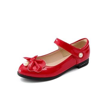 Bowknot Mary Janes Low Heel Pumps Shoes 8002