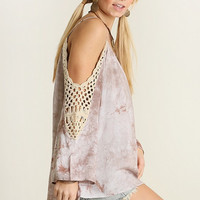 Umgee USA Stone Cold Shoulder Top