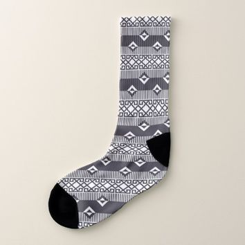 Native American Pattern Mayan Aztec Symbols 8 Socks