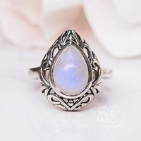 Moonstone Ring - Enchanted Teardrop