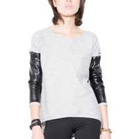 Generation Love Bobo Leather Sleeve Top | ShopAmbiece