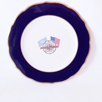 Vintage World Trade Club Plate Platter Commemorative Platter Plate Home Decor Nautical Traditional Plate Platter