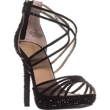 TS35 Ceara Platform Dress Sandals, Black, 6.5 US