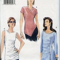 Vogue Pattern 7023 Pull Over Top w 3 styles Sizes 8-10-12 2 way Knit Only