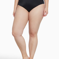 Strappy Mesh High Waist Swim Bottom