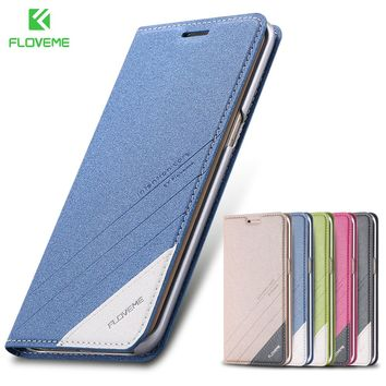 FLOVEME Flip Phone Case For Samsung Galaxy S6 S7 Edge Case Magnetic Stand Wallet Card Slot Pouch For Galaxy S8 S9 Plus Note 8 9