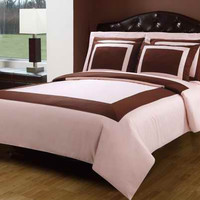 Blush(Pink) & Chocolate Down Alternative Bed in A Bag